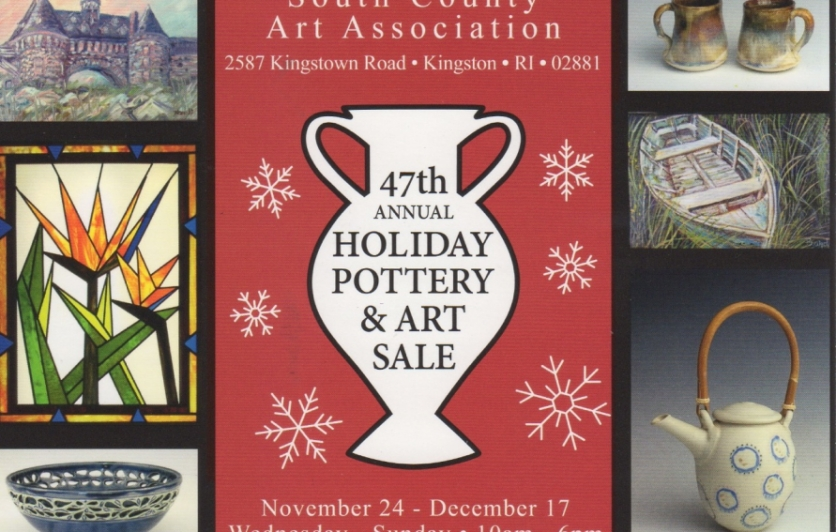 South County Art Association 47th Annual Holiday Pottery and Art Sale 11/24-12/17 WED-SUN 10am-6pm