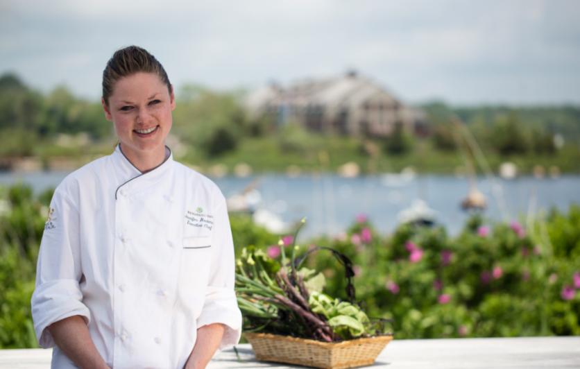 Chef Jennifer Backman of the Weekapaug Inn