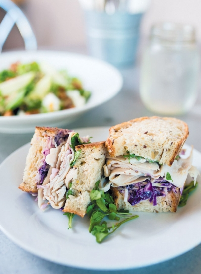Sandwiches at Cru Café