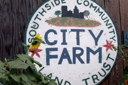 City Farm sign