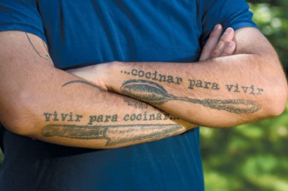 Born to cook tattoo