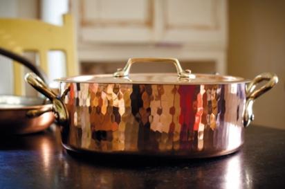 Shiny copper pot