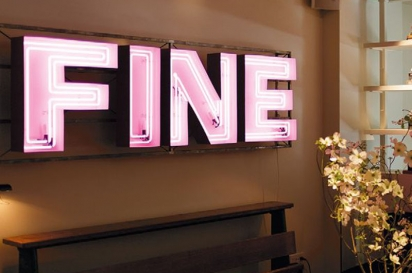 The Dean Hotel's neon sign