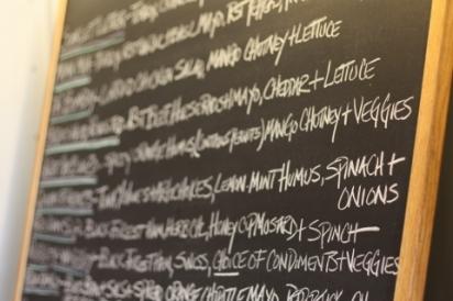 Provender's menu