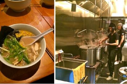In the kitchen at Ken's Ramen
