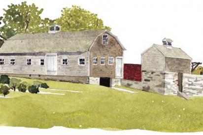DeWolf Farm, Bristol, Rhode Island Illustration by Tom Gastel