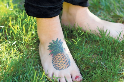 tattoo of a pineapple