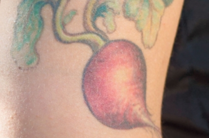 Tattoo of radish