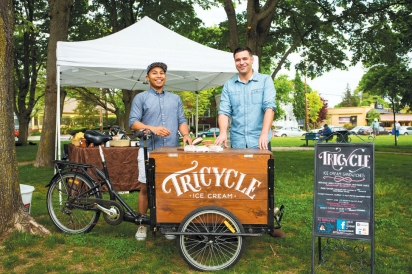 David Cass and Giovanni Salvador of Tricycle Ice Cream