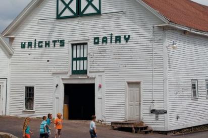 Wright's Dairy Farm cow barn