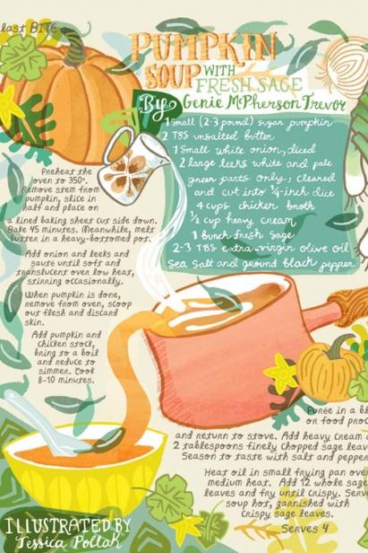 Pumpkin Sage Soup Illustration by Jessica Pollak