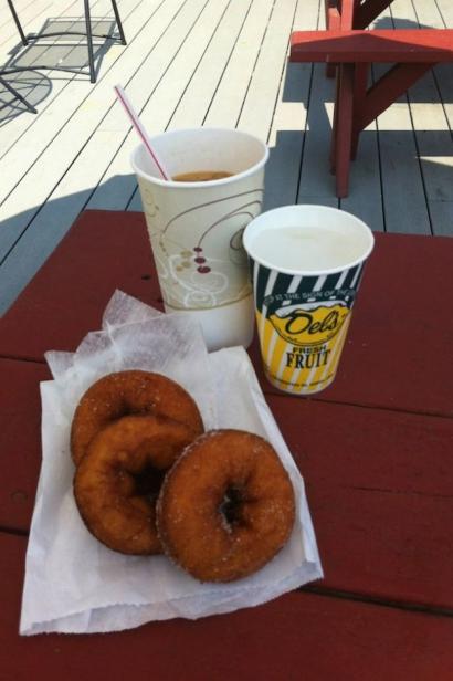 Coffee, doughnuts, Del's