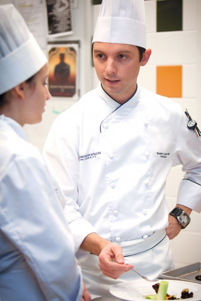 Alexandria Sarovich and Chef Branden Lewis
