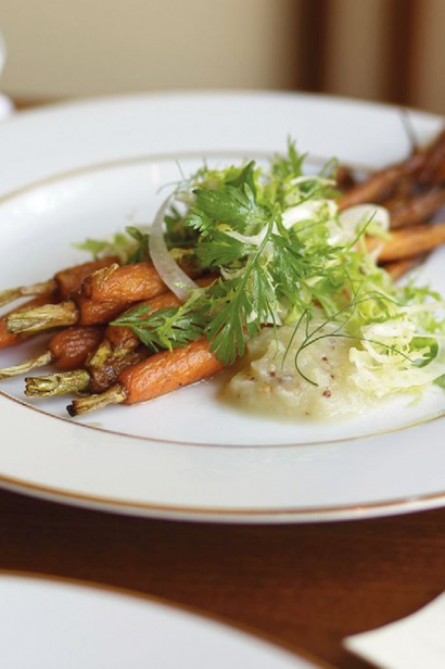 Roasted carrots with fennel at Faust