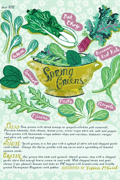 Spring Greens Illustration by Jessica McGuirl