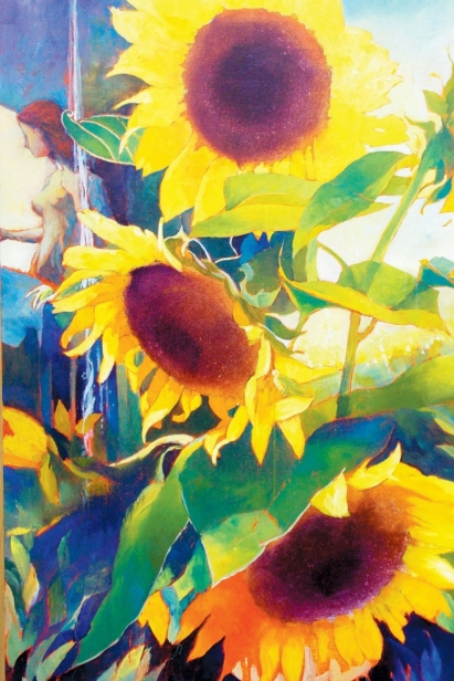 Final Flavor Sunflower Illustration by Mike Bryce