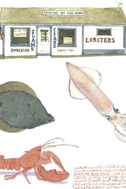 Fish Market Illustration by Tom Gastel