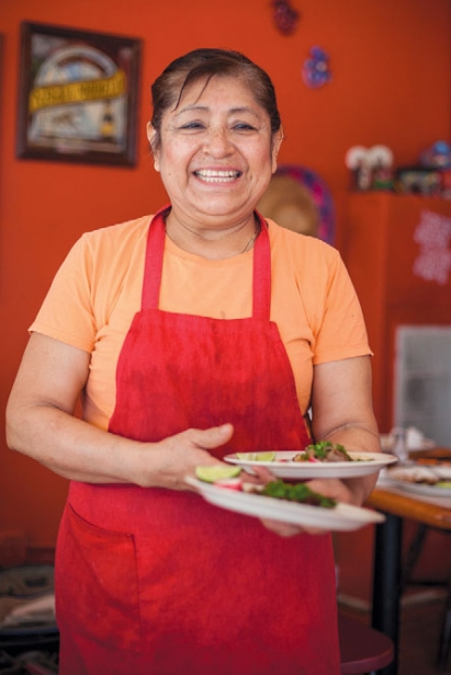 Fresh tacos from co-owner and chef Bertina Romos at Taqueria Lupita