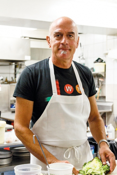Steve Johnson in the kitchen at the Red Dory