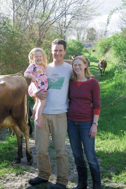 Laura Haverland and Andrew Morley with daughter at Sweet & Salty Farm