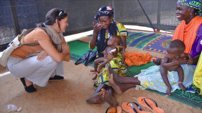 Navyn Salem on a visit to Tanzania