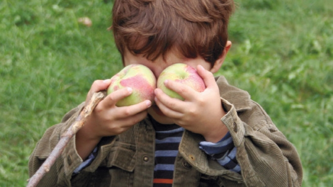 Holding Up Apples