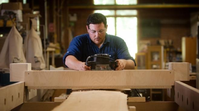 Marc Stimpson of Hope's Woodshop
