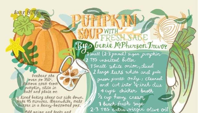 Pumpkin Soup with Fresh Sage recipe illustration