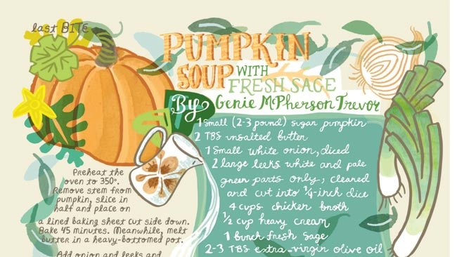 Pumpkin Soup with Fresh Sage recipe illustration