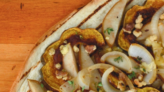 Acorn Squash & Pear Flatbread