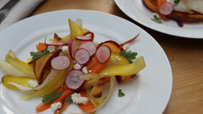 Rainbow Carrot Salad with Toasted Cumin Vinaigrette