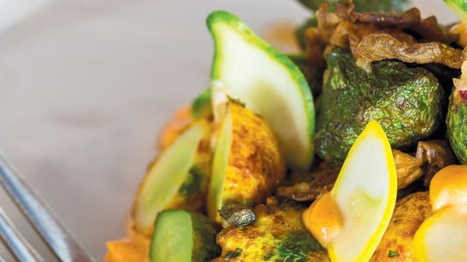 Roasted Pattypan Squash & Oyster Mushrooms