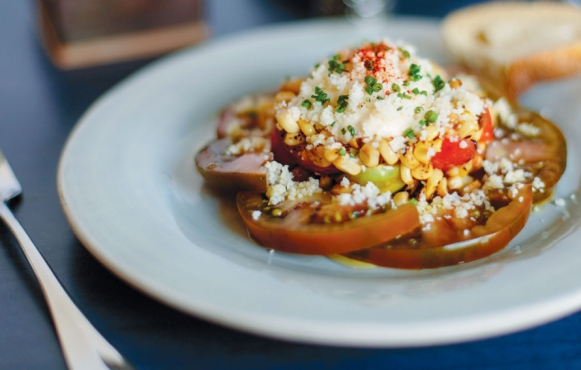 warm corn and tomator salad