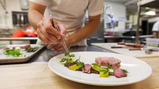 Plating a local dish