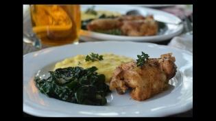 chicken kale polenta