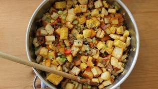 Corn Bread and Chorizo Stuffing