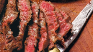 Flank Steak with Carrot Top Pesto