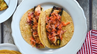 Honey-Sriracha Chicken and Zucchini Tacos